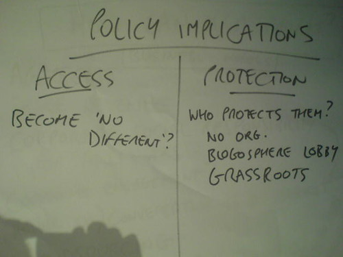 Citizen journalism - policy implications