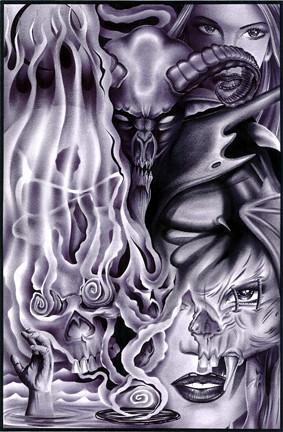 Mexican Tattoo Art mexican prison art. prison art