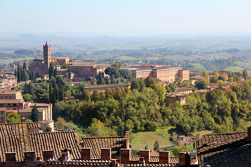 Siena and the surrounding countryside