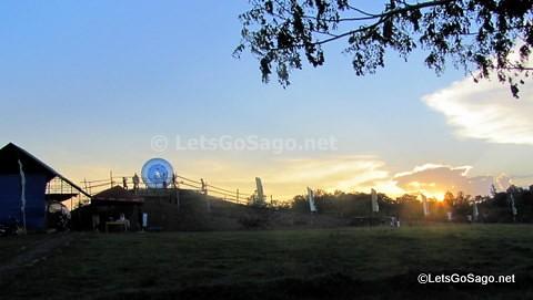 Leaving Davao Zorb Park as the sun sets.