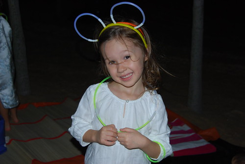 Grace with her glow sticks.