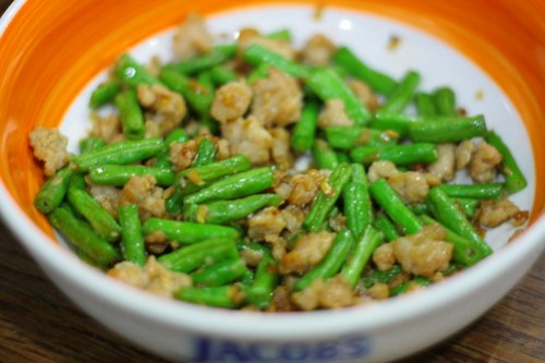 长豆炒肉碎