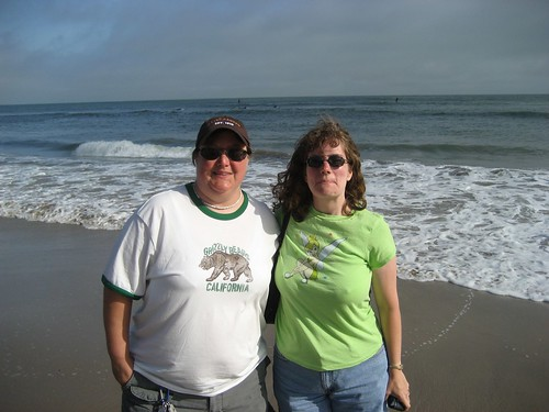 Me and Stephanie at the Pacific Ocean