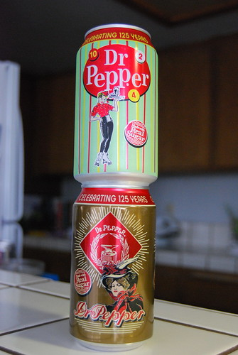 Retro Dr. Pepper cans
