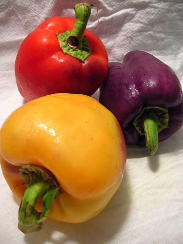 Trio of Colorful Peppers