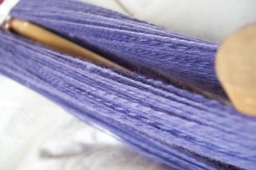 blue handspinning