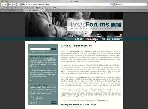 texas forums branding