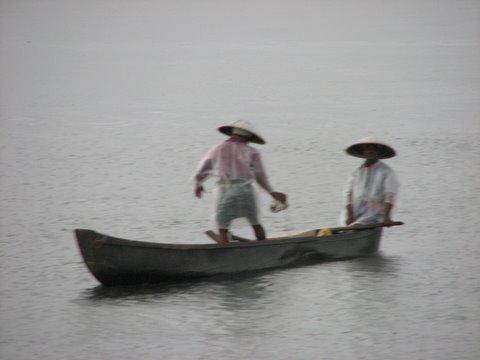 Fishermen in the Rain Kochi Harbour 260807