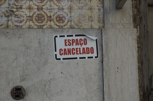 Espaço cancelado