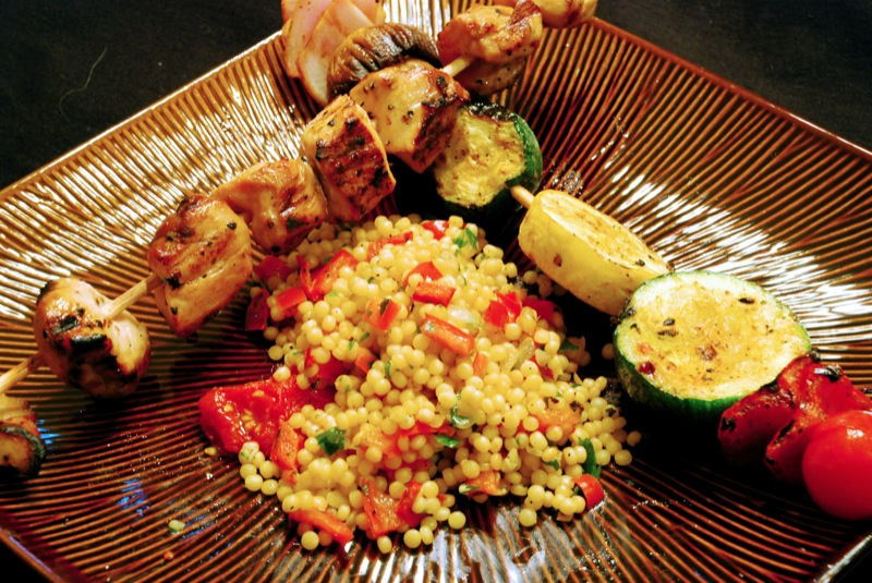 Teriyaki-Marinated Grilled Chicken Kebobs