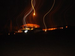 calangute beach at night