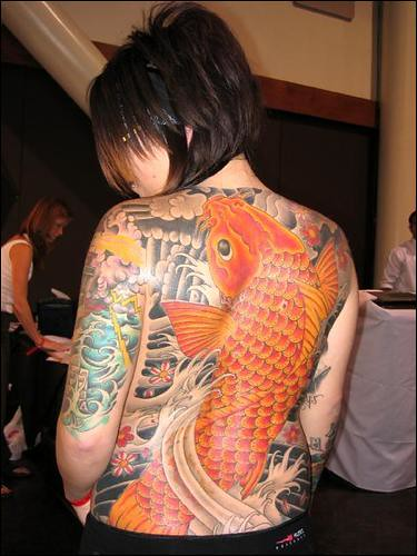 Japanese style tattoo at State of Grace Tattoo Show, San Jose, CA.