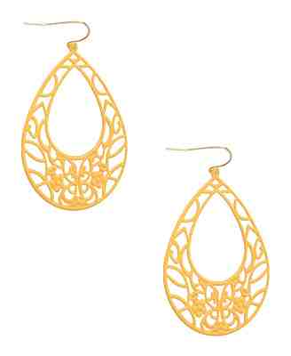 Norma Metal Tear Earrings