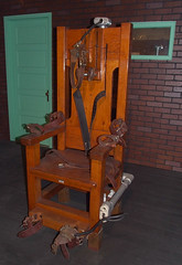 "The real ""Old Sparky"" electric chair..."