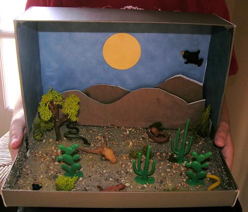diorama mojave desert