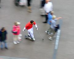 Darting through the crowd