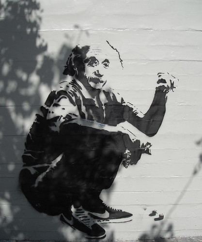 Einstein Throwing That Dice by Banksy. Upper Haight, San Francisco 17