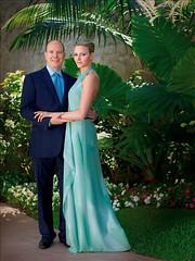 Imágenes del príncipe Alberto de Mónaco y Charlene Wittstock