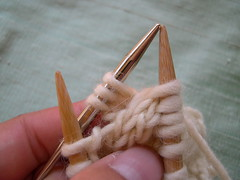 Knit from cable needle