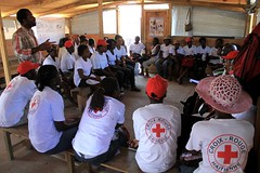 Hygiene promotion volunteers receive cholera t...
