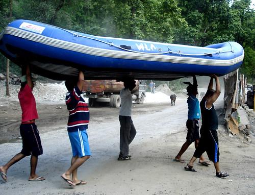 Preperation-river rafting