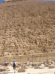 mr. four and bug at the base of the pyramid of khafre