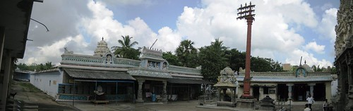 Front view of the temple