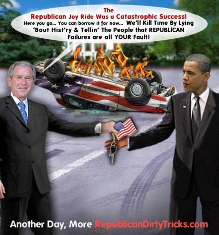 Bush Passes His Catastrophic Success To Obama Image