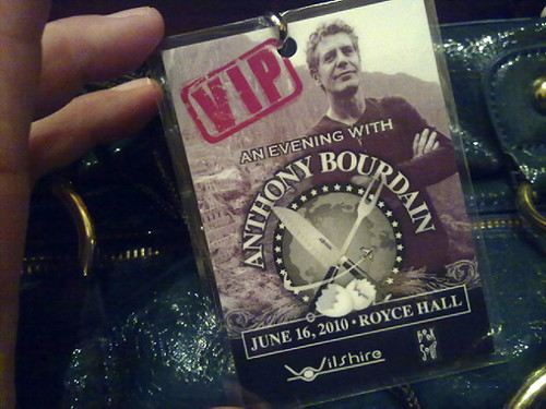 Bourdain V.I.P. Pass