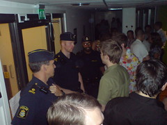 Police officers partying with Spotify