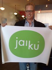 Neil Vineberg, Jaiku's PR guy at the party