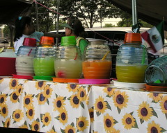 Aguas frescas (fruit waters)