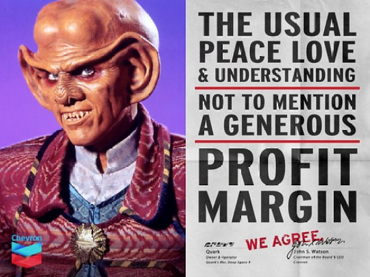 "Chevron & Quark ""We Agree"" Ad"