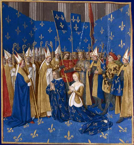 Coronation of Louis VIII and Blanche of Castile, 1223 via Paul Wylde's flickr account, used without permission, sorry