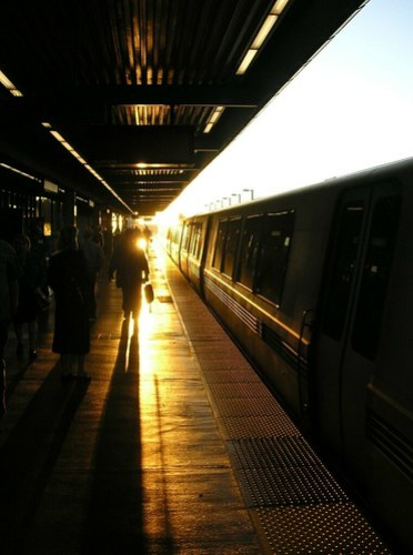 BART at sunset