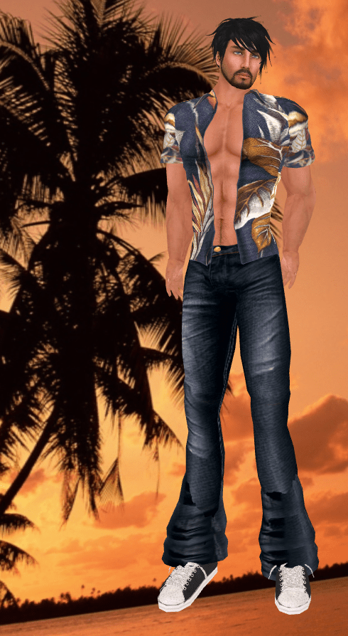 SSH Pride hunt Hawaiian Shirt and Jeans (2)