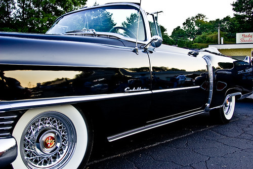 mirror black cadillac