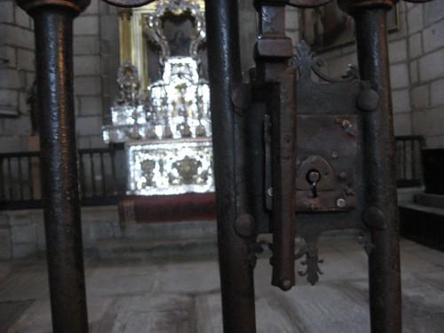 (holy things behind rusty locks)