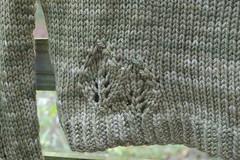 lace leaf pullover bottom leaf detail