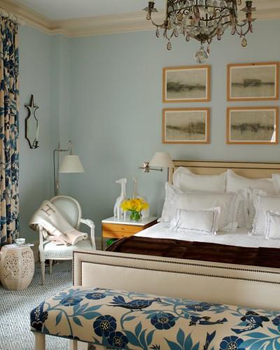 Timothy Whealon bedroom upholstered headboard