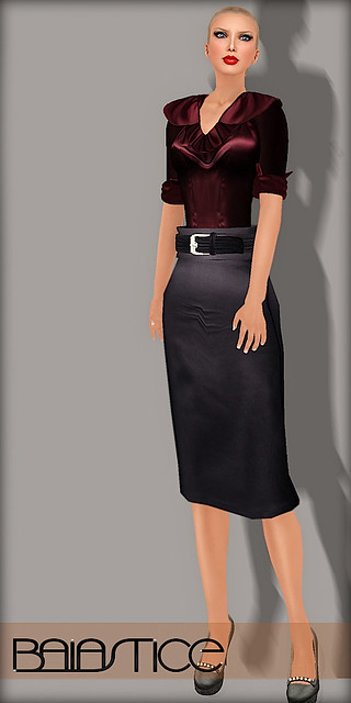 Baiastice Marcela Silk Shirt & Silk Pencil Skirt
