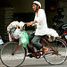 man transporting recyclables on bike 2