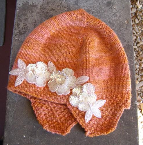 grandma's crayon flapper hat - flat