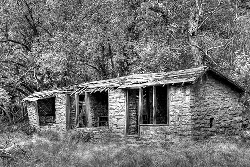 Mayhew's Lodge in B&W