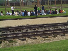 Judíos de visita en Birkenau