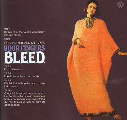 Knit  antil your fingers bleed
