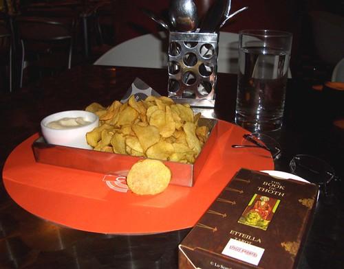 Cibo's home made potato chips and all'olio.