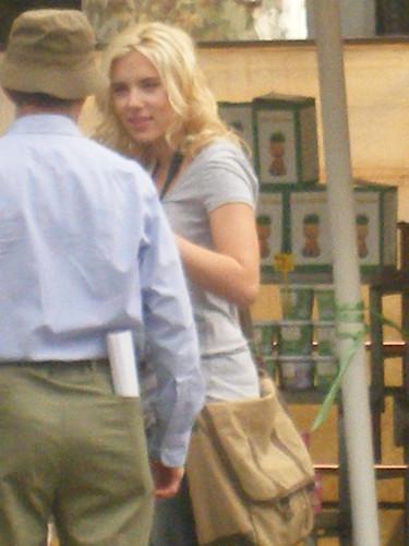 Fotograf�a de Scarlett Johansson en Las Ramblas