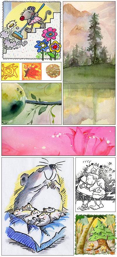 Galeria | Aquarel·la, llapis, pastel, retolador, tinta i gouasch