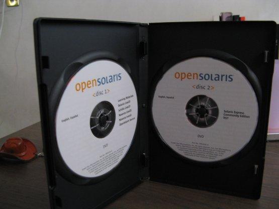 DVD's de OpenSolaris
